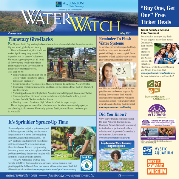 may 2021 cover of Water Watch