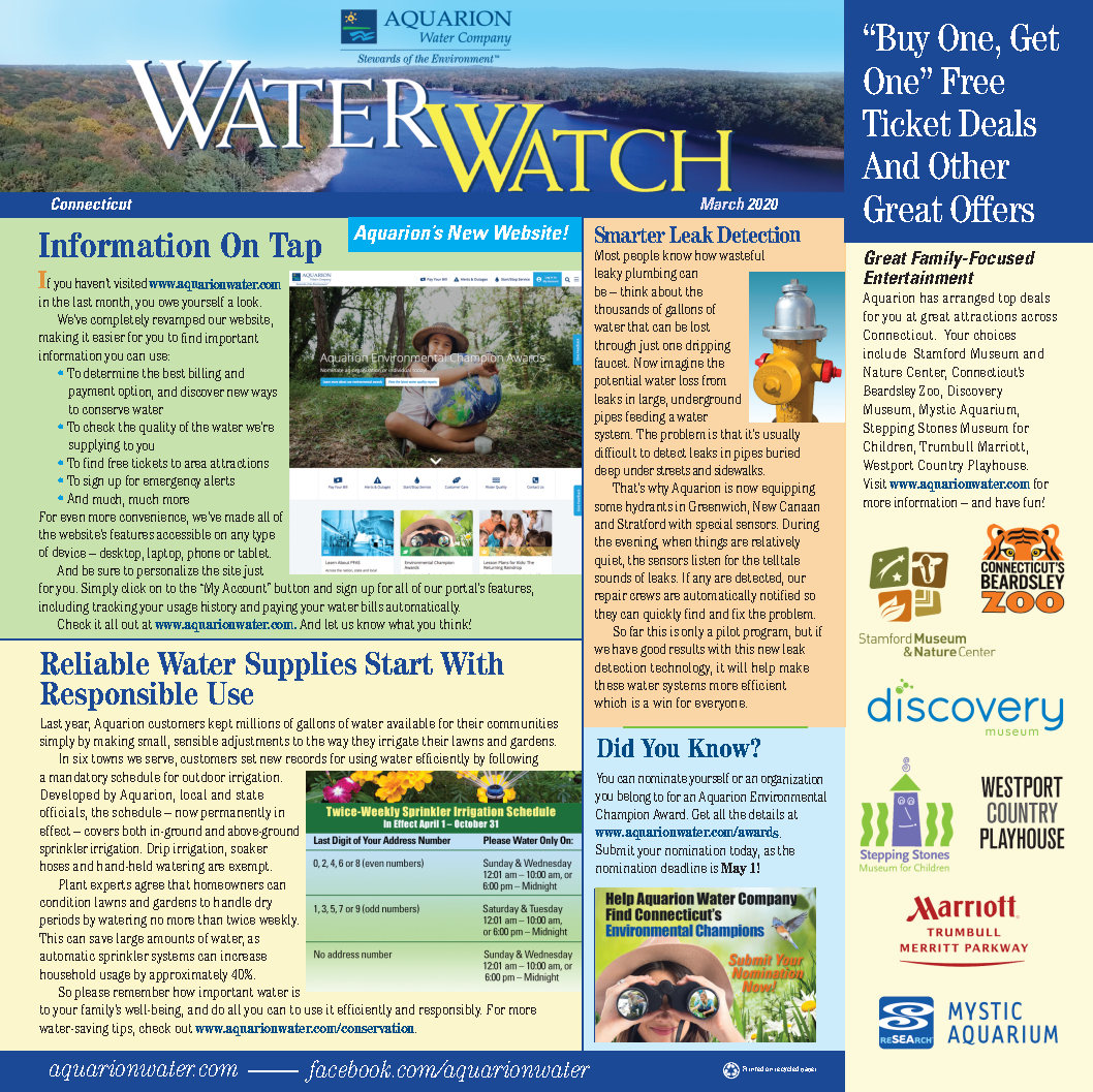 water watch cover